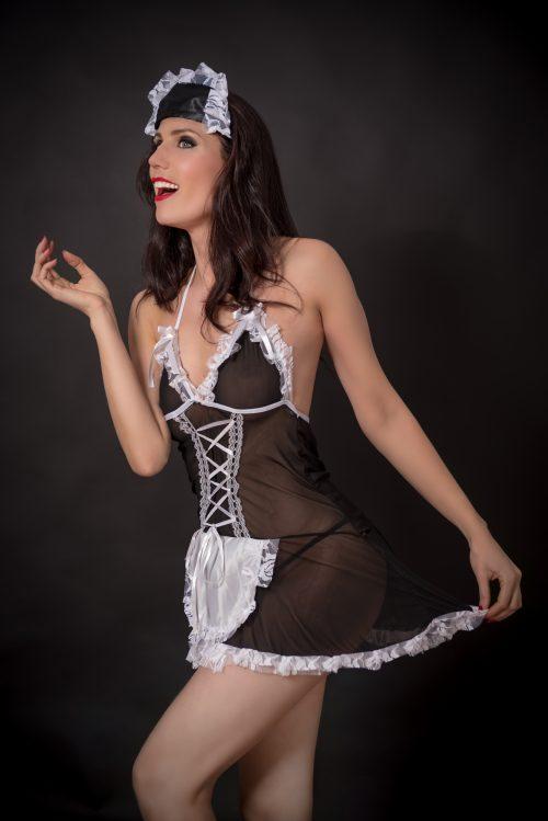 Disfraz Erótico Sirvienta con Cofia - LOVERSpack