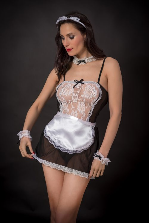 Disfraz erótico sirvienta
