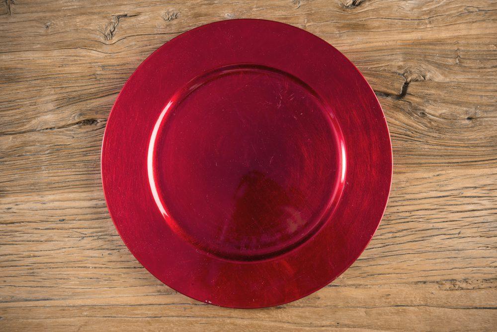 Bajoplato PVC Lovers 33 cm - Color Rojo - LOVERSpack
