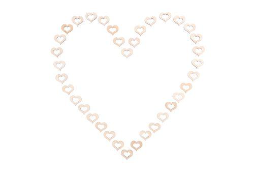 Corazón con 36 corazones de madera huecos - LOVERSpack
