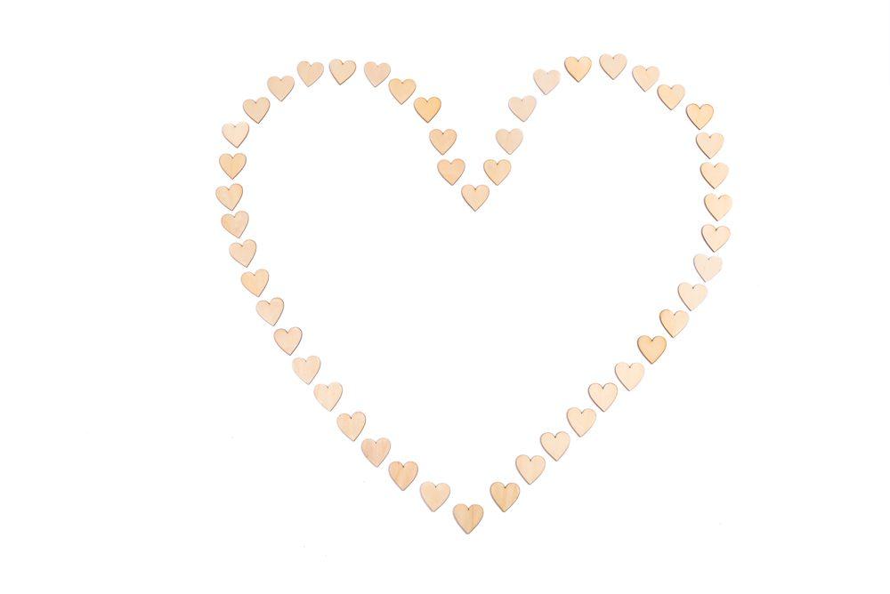 Corazón con 50 corazones de madera - LOVERSpack