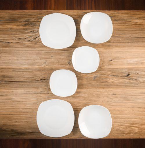 Vajilla Porcelana Lovers de 6 Piezas de Color Blanca