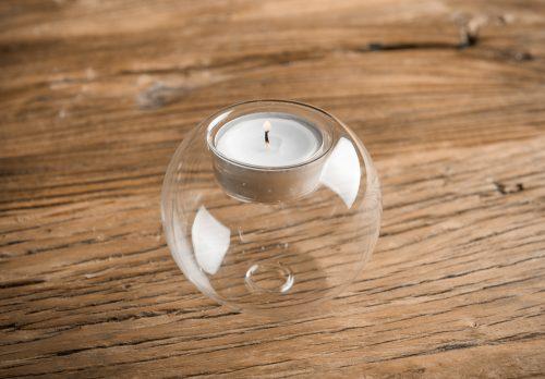 Decoración romántica con velas