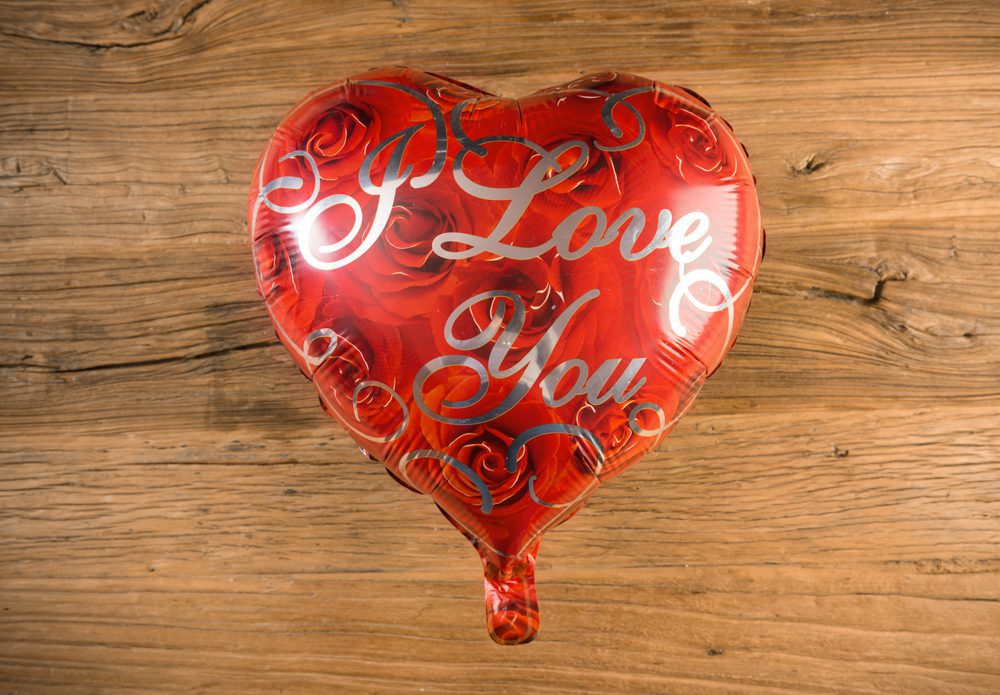 Globo corazón rojo y rosas I LOVE YOU - LOVERSpack