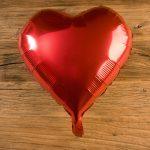 Globos corazón color rojo metalizado - LOVERSpack