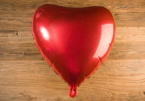 Globo corazón color rojo metalizado gigante - LOVERSpack