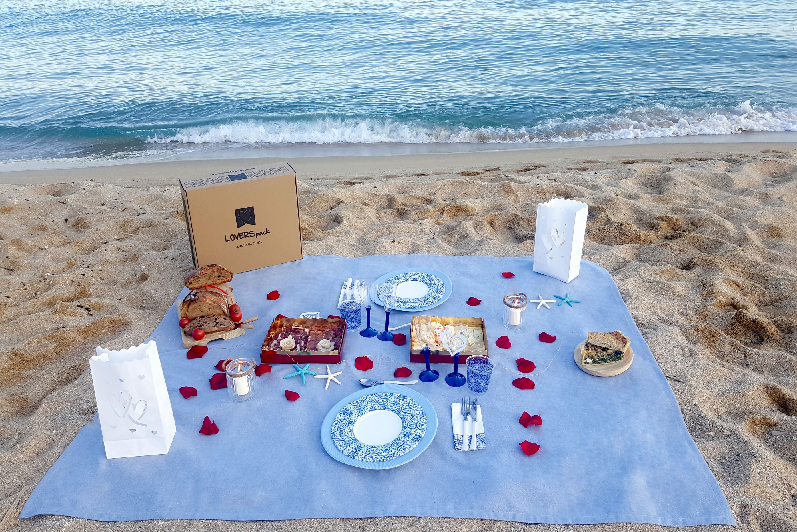 Picnic Romántico Playa- Calima Outdoor Pack - Loverspack