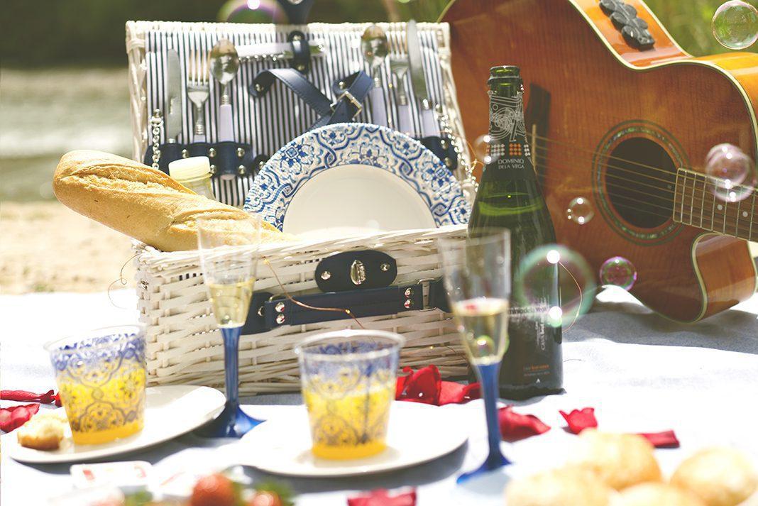 como montar un picnic romantico