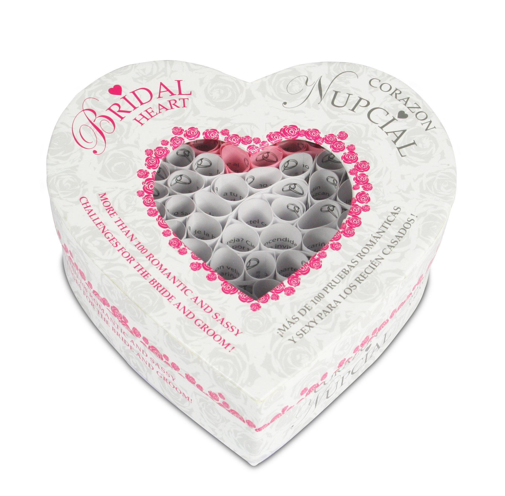 Juego para Parejas, Corazón Nupcial ( 100 Pruebas Llenas de Románticas para recién casados) Tease & Please - LOVERSpack