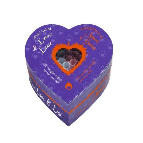 Juego erótico para parejas - Corazon 100 noches pícaras de amor y deseo - LOVERSpack