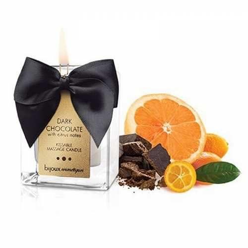 Vela de Masaje Besable y Decorativa Aroma Chocolate y Citrícos - Cosmética Erótica 100% Natural 100% Vegana 0% Parabenos de Bijoux Indiscrets - LOVERSpack