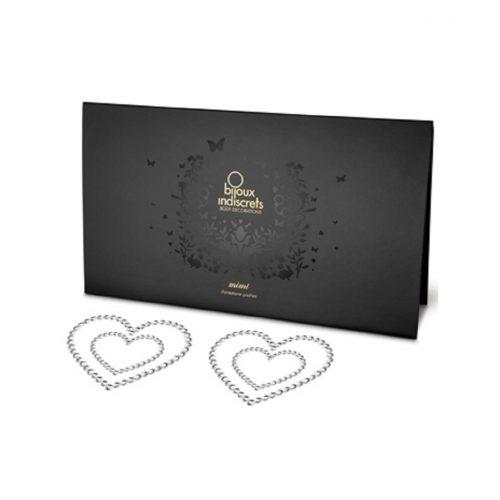 Cubre Pezones Sexys Corazones Piedras Plata de Bijoux Indiscrets - LOVERSpack