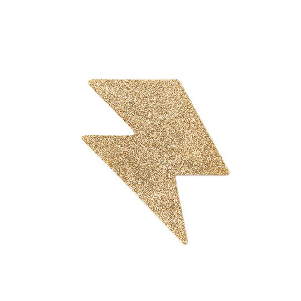 Cubre Pezones Sexys Rayos Oro Glitter - Flash Bolt Glitter Pasties de Bijoux Indiscret - LOVERSpack