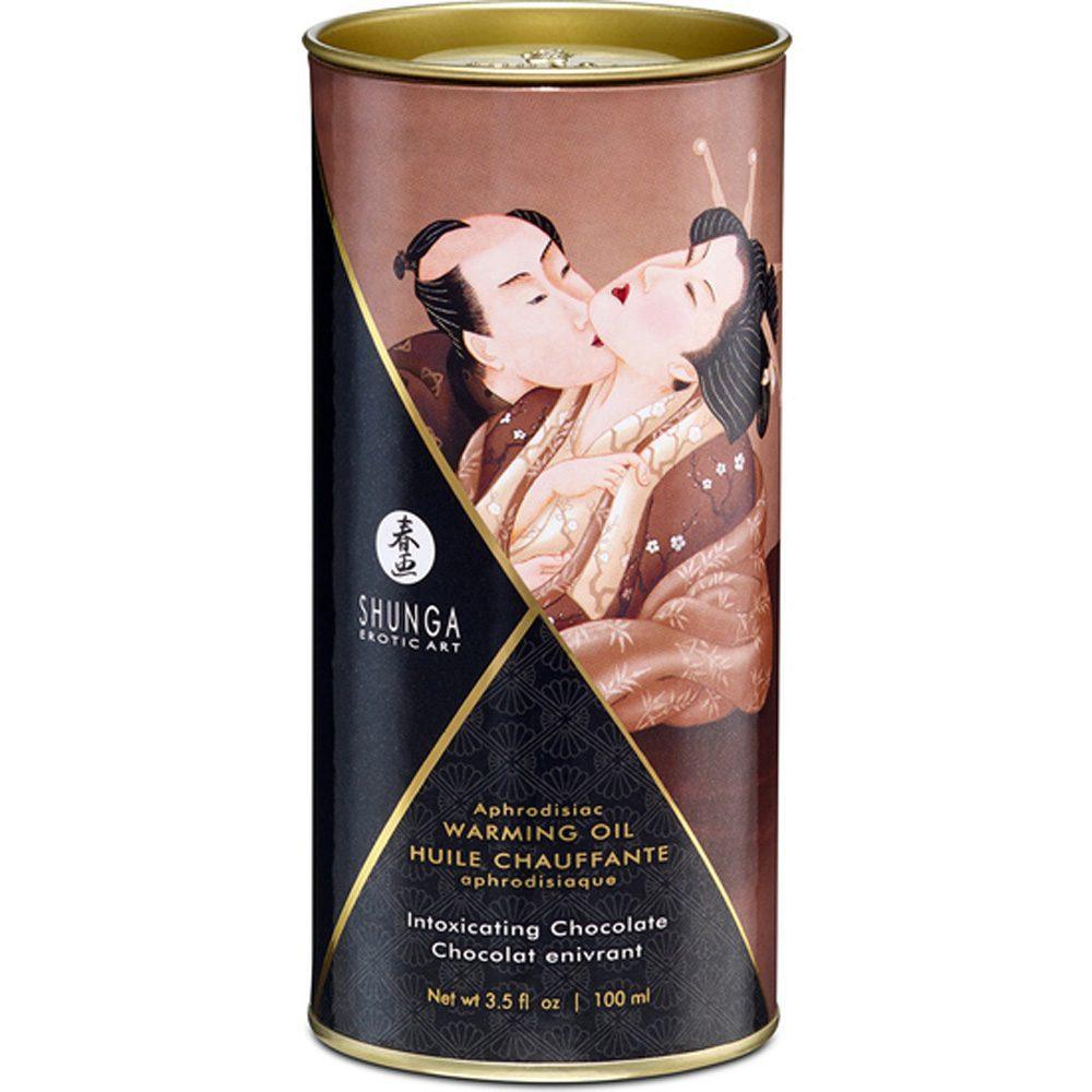 Aceite Masaje Afrodisíaco Efecto Calor Chocolate 100ml. - Shunga - LOVERSpack