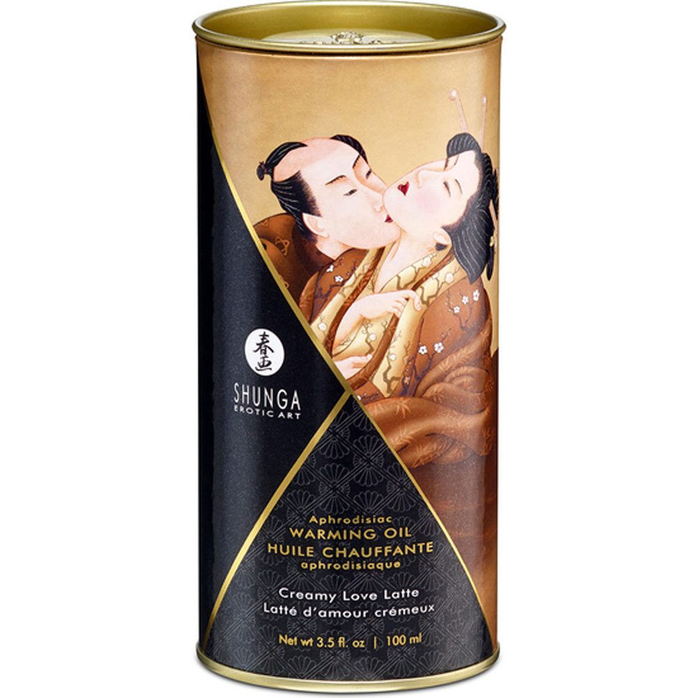 Aceite Masaje Afrodisíaco Efecto Calor Love Latte 100ml. - Shunga - LOVERSpack