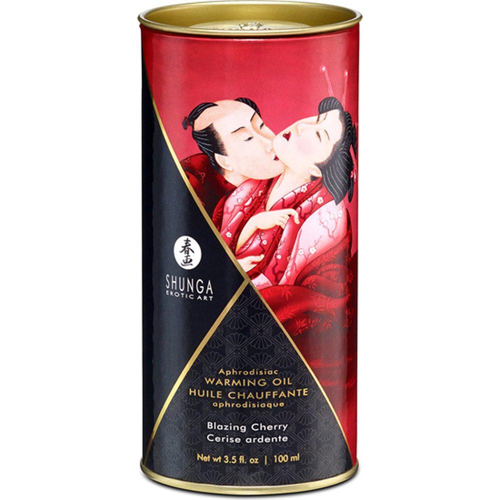Aceite Masaje Efecto Calor Besos de Cereza 100ml. - Shunga - LOVERSpack