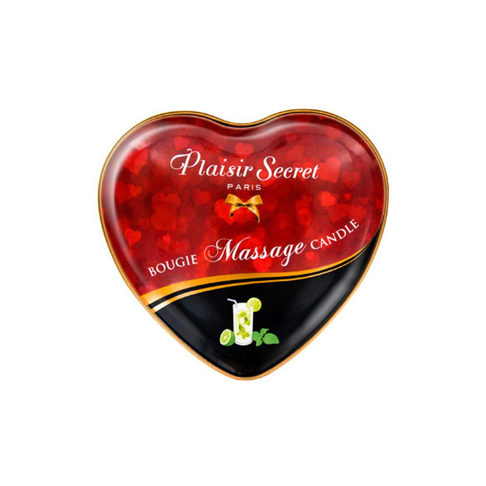 VELA MASAJE CORAZÓN AROMA MOJITO- PLAISIR SECRET PARIS - LOVERSpack