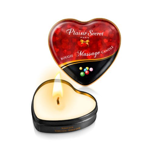 VELA MASAJE CORAZÓN AROMA BUBBLE GUM - PLAISIR SECRET PARIS -LOVERSpack