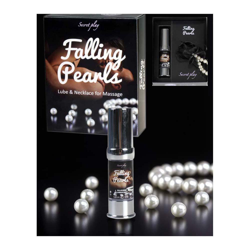 Falling Pearls - Lubricante y Collar de Perlas para Masaje - Secret Play - LOVERSpack