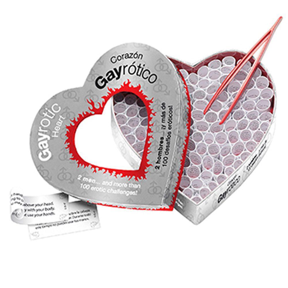 Juego Corazón Gay Erótico 100 Desafios Eróticos- Tease & Please - LOVERSpack