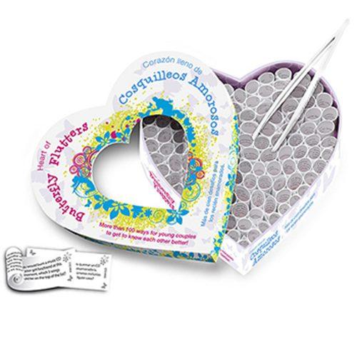 Juego erótico para pareja - Corazón Cosquilleos Amorosos (100 desafíos románticos) Tease & Please - LOVERSpack