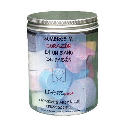 Corazones Aromáticos Efervescentes Mixtos Cosmética Natural Cruelty Free 350 ml. - LOVERSpack