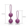Bolas Chinas Kegel Silicona Médica Púrpura Kelly by Engily Ross - LOVERSpack