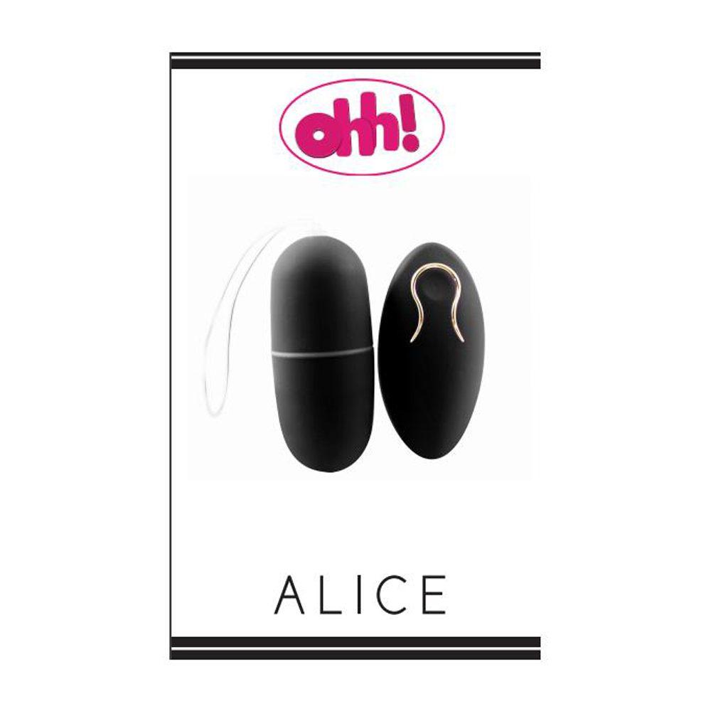 Huevo Vibrador Inalámbrico Mando Distancia Alice Negro by Ohh Toys- LOVERSpack
