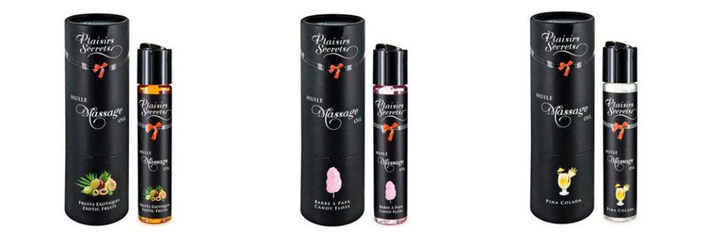 Aceite de masaje comestible de Plaisirs Secrets