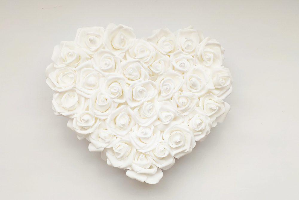 Decoración Romántica Corazón Rosas Goma Eva Rojo
