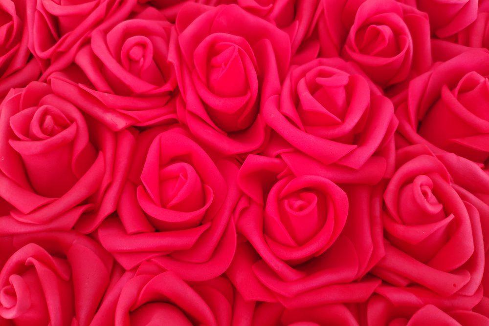 Corazón Rosas Goma Eva Rojo - LOVERSpack