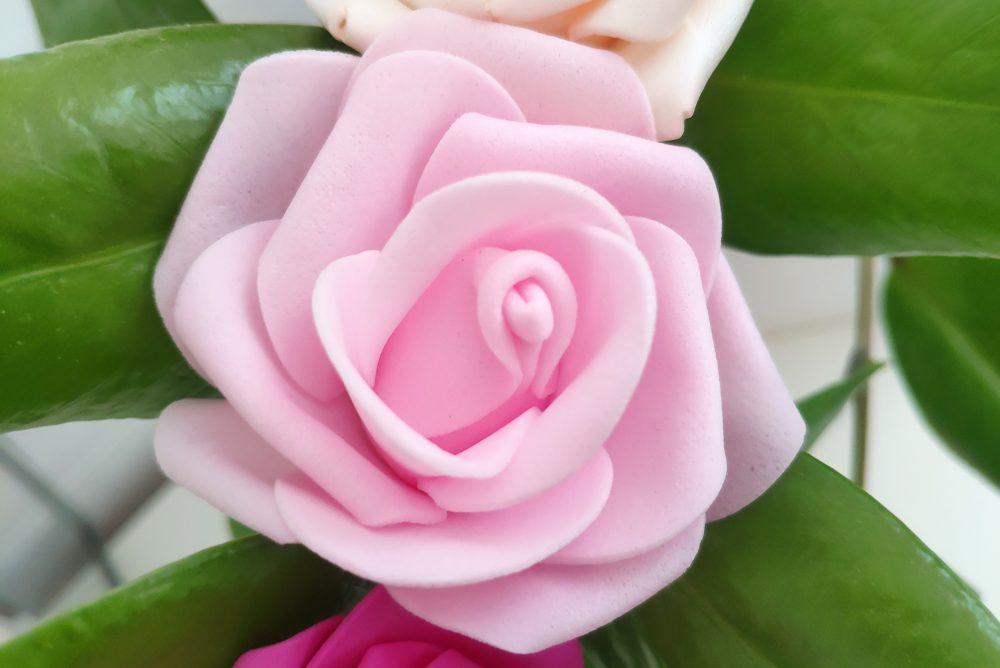 Rosas Goma Eva Luz Led Rosa - LOVERSpack