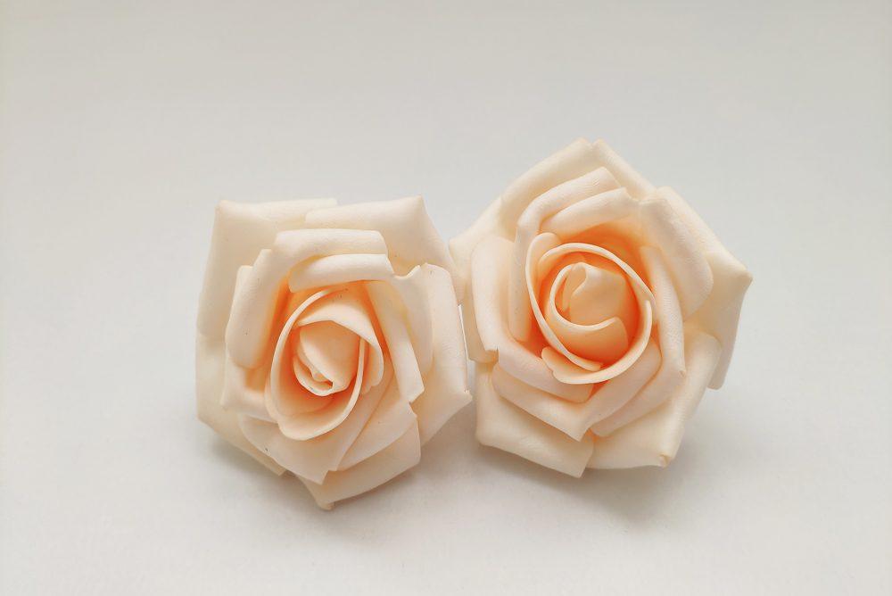 2 Rosas Goma Eva Luz Led Salmón - LOVERSpack