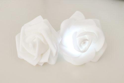 Rosas Goma Eva Luz Led Blanca