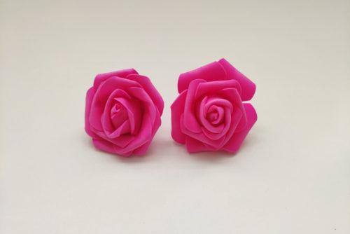 Rosas Goma Eva Luz Led Fucsia - LOVERSpack