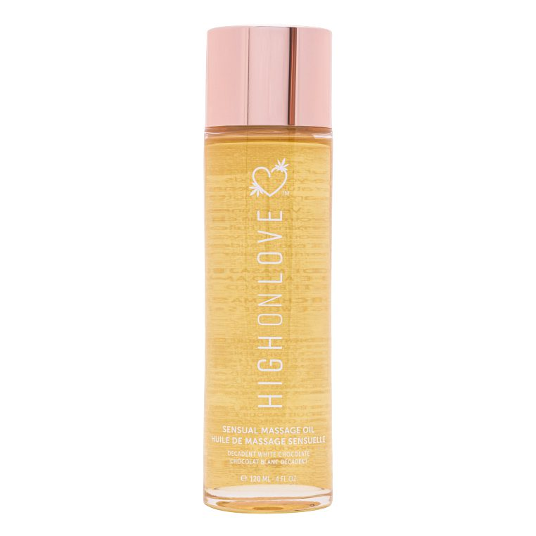 HighOnLove, la cosmética erótica de lujo te trae este aceite sensual para realizar los mejores masajes preliminares inclusive los cuerpo a cuerpo.