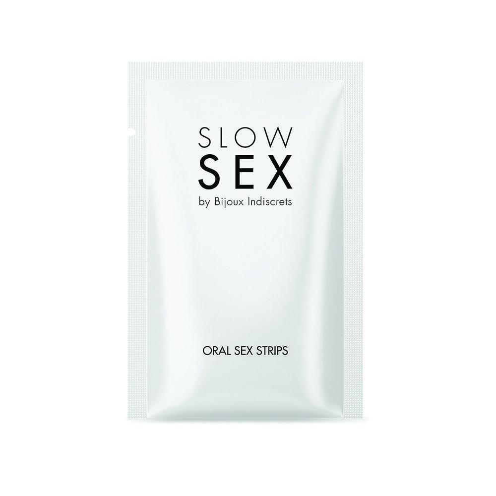 Oral Sex Strips Slow Sex by Bijoux Indiscrets, láminas para prácticar sexo oral estimulando el clítoris y el glande- LOVERSpack
